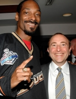 Snoop Dogg and Gary Bettman