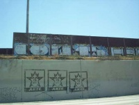 Anze Kopitar Graffiti on the Pomona Freeway