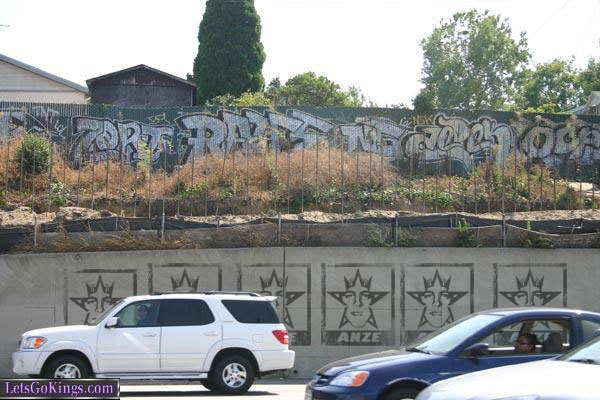 Anze Kopitar Graffiti on the Santa Ana (5) Freeway