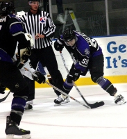Ned Lukacevic on the face off