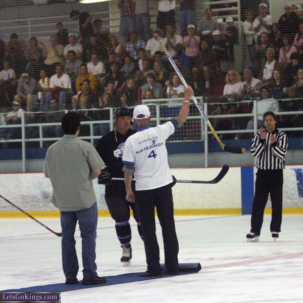 Head of Narconon in puck drop ceremony