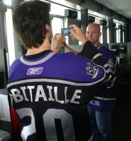 Luc takes a picture of Mattias Norstrom