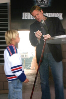 Jeremy Roenick and friend