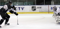 Bryan Boyle on a penalty shot