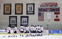 White team celebrates 7-1 victory by Rink Dawg