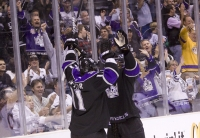 Kopitar And Simmonds Celebrate