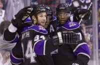 Smyth, Kopitar And Simmonds Celebrate