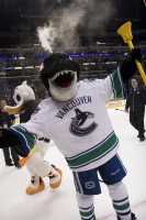 Fin, The Canucks Mascot At Bailey's Birthday