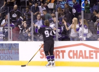 Ryan Smyth Tosses Puck To Fans