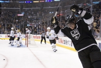 Anze Kopitar Celebrates A Hat Trick