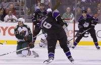 Cal Clutterbuck Shows That Blocking Shots Can Be Painful