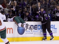 Andrew Brunette In The Kings Bench After Dustin Brown Hit