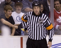 Nhl Veteran Referee Rob Shick Appears In His Final Game by rinkrat