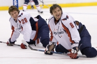 Alexander Semin And Alexander Ovechkin by Rink Dawg