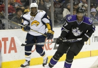 Wayne Simmonds And Mike Grier by RinkRat