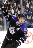 Anze Kopitar Celebrates After Scoring Opening Goal In The First Period