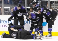Concerned Kings Check On Injured Kopitar