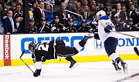 Dustin Brown break-dancing