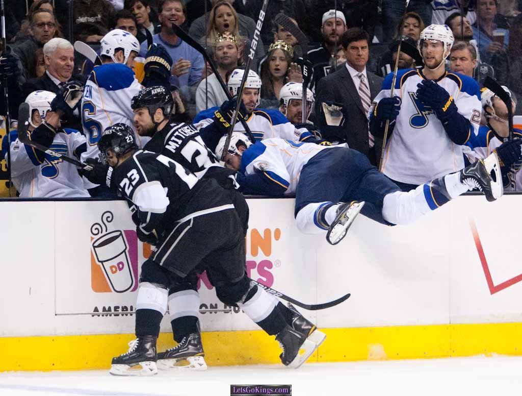 Dustin Brown hit that led to tripping retaliation