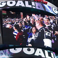 Golfnut and Mrs Golfnut on the Jumbotron!