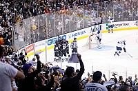 Kings celebrate first goal