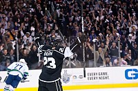 Dustin Brown celebrates GWG