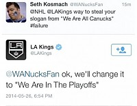 Don't mess with LA Kings Twitter!