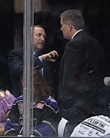 Bettman about to rip out Leiweke's heart and eat it