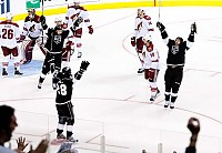 Dwight King celebrates GWG by Rink Dawg