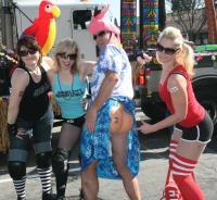 Roller City Derby Girls And Parrot Head