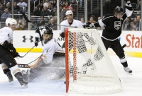 Kopitar Celebrates Goal In The 2nd Period