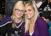 Seanna and Jessica ready for the puck to drop