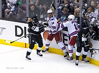 Dustin Brown gets High Sticked
