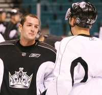 Jonathan Bernier and Dustin Brown