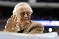 Marvel Comics' Stan Lee Rides Atop The Zamboni