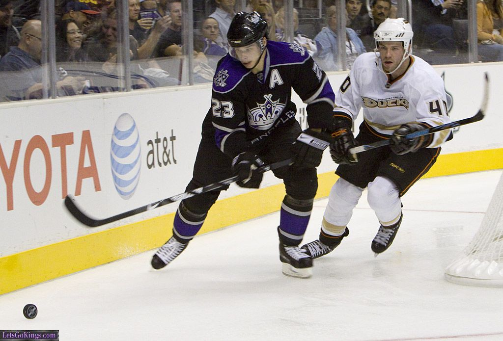 Dustin Brown And Kent Huskins