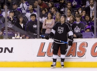 Drew Doughty And Fans During Warm-ups