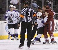 Clune and Fedoruk go at it