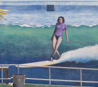 Mural:  HB Surfing Museum