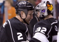 Matt Greene Congratulates Jonathan Quick
