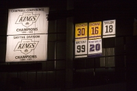 Los Angeles Kings Retired Jerseys and Championship Banners