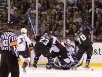 Dustin Brown And Matt Moulson Pressure The Av's