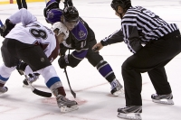 Ben Guite And Anze Kopitar Face Off