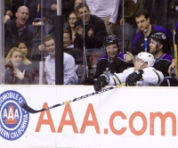 Stephane Robidas Finds Himself On The Wrong Bench Thanks To Dustin Brown