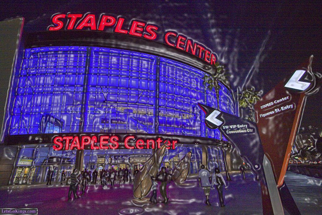 Staples Center Wrapped In Plastic