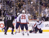 Kings Celebrate A Goal By Drew Doughty