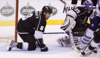 Doughty Plays Goalie