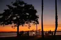 Sunset in Long Beach, California
