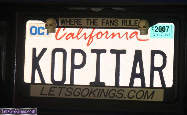 RR's license plate