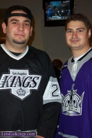 At the Kings vs. Flyers game